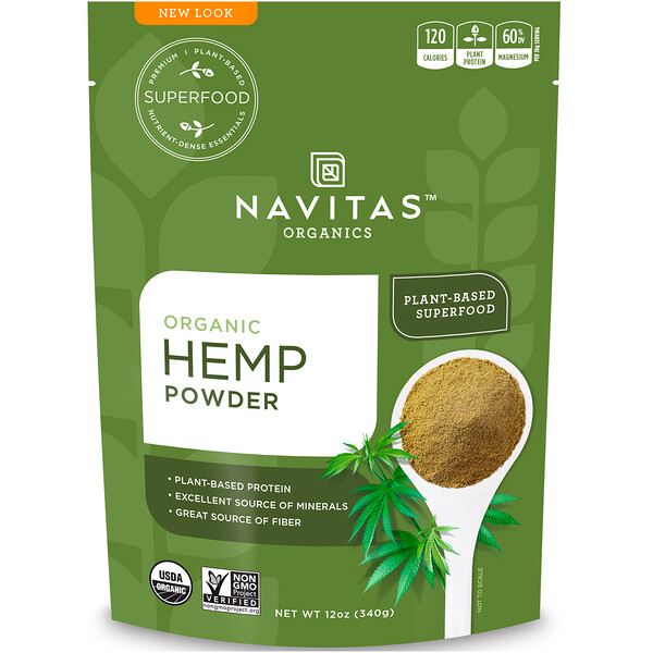 Organic Hemp Powder, 12 oz (340 g)