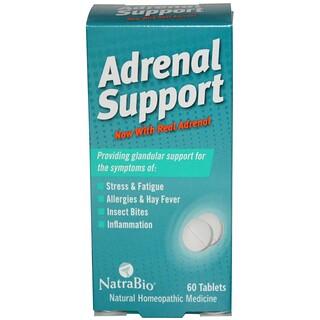 NatraBio, Apoyo Adrenal, 60 Tabletas