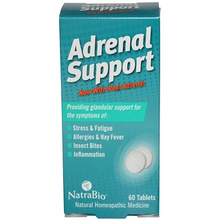 NatraBio, Adrenal Support, 60 Tabletten