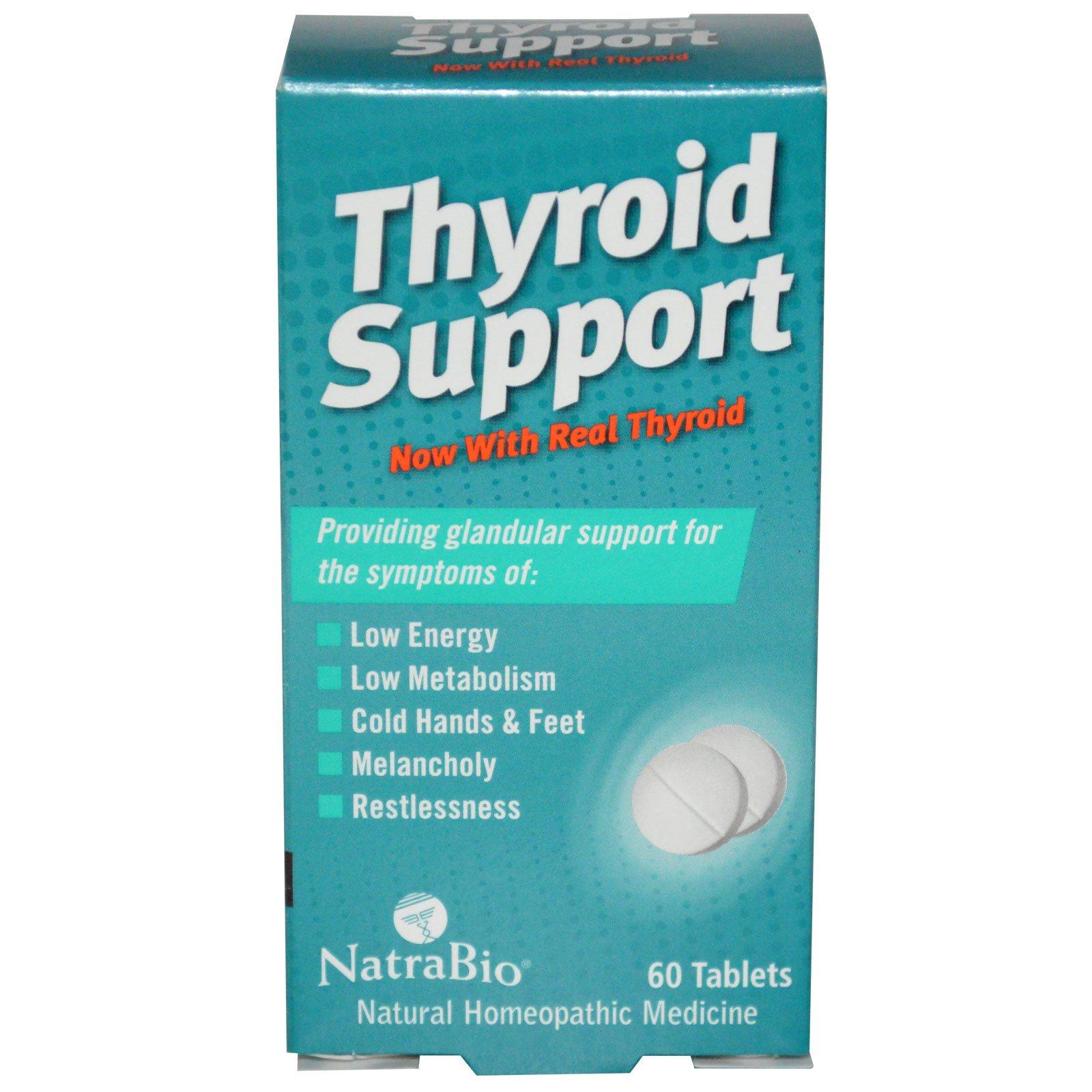 NatraBio, Поддержка щитовидной железы, 60 таблеток
