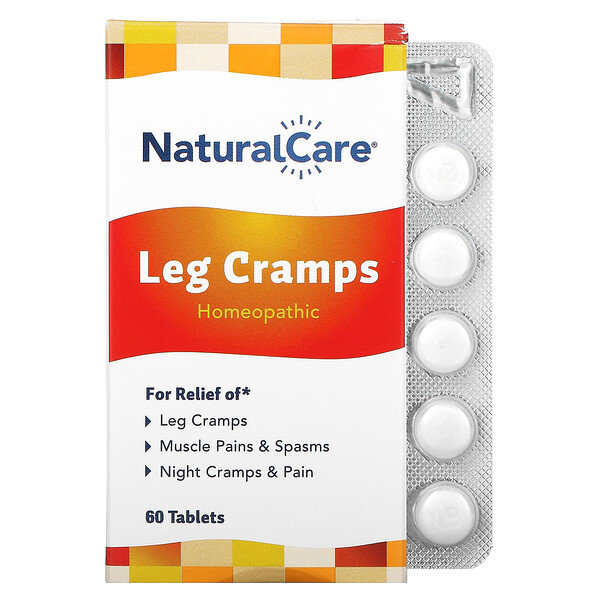 NatraBio, Leg Cramps, 60 Tablets