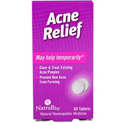 NatraBio, Acne Relief, 60 Tablets