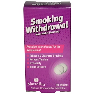 NatraBio, Smoking Withdrawal, 60 Tablets