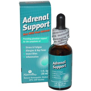 NatraBio, Adrenal Support, 1 fl oz (30 ml)
