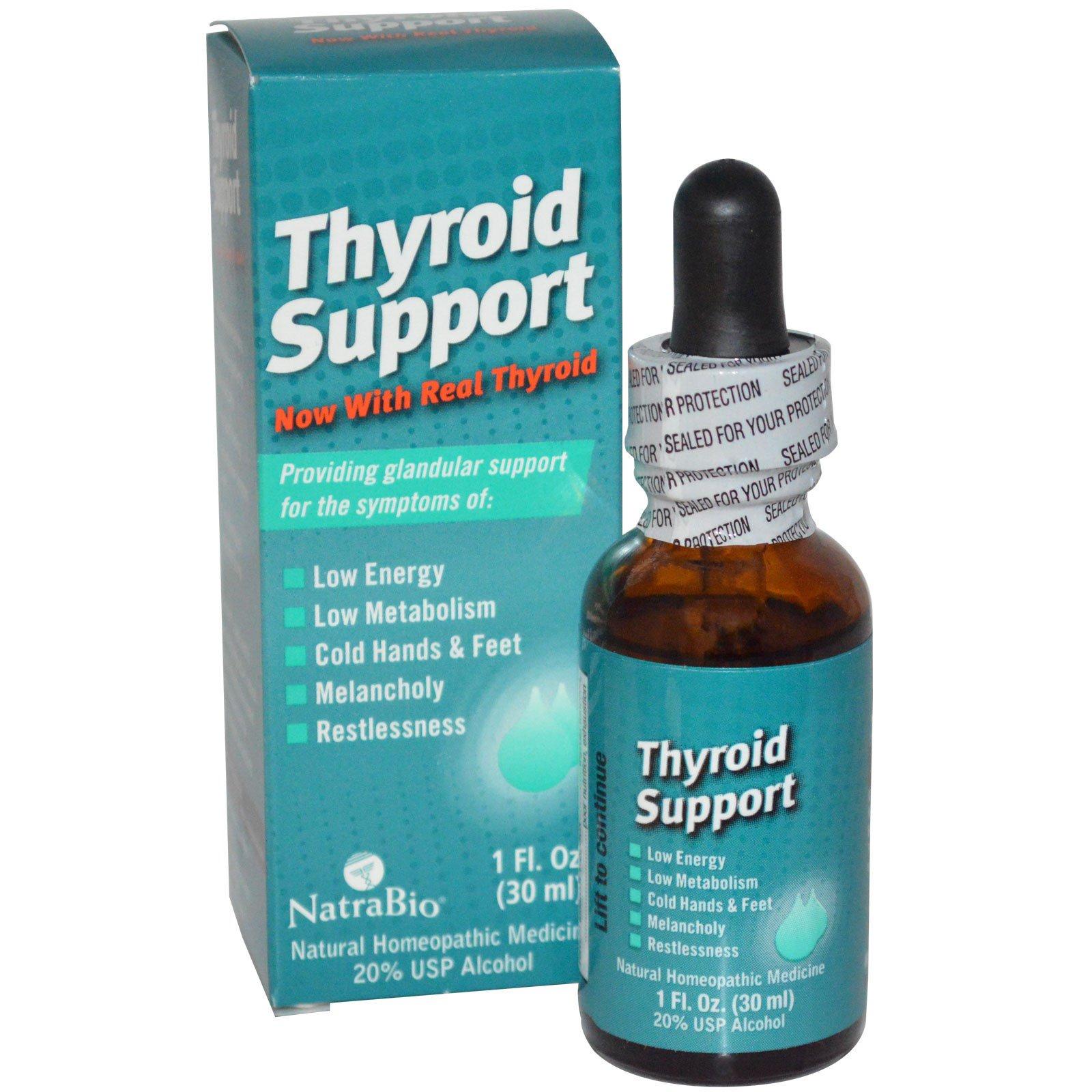 NatraBio, Укрепление здоровья щитовидной железы, 1 жидкая унция (30 мл)