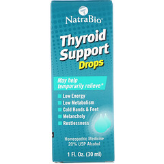 NatraBio, 甲狀腺支持劑,1液盎司(30毫升)