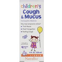 NatraBio, 兒童受涼咳痰糖漿,漿果味,4 液量盎司(120 毫升)
