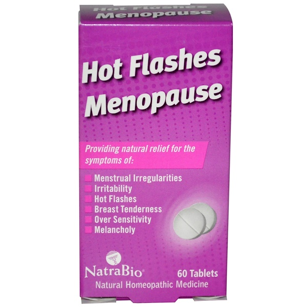 Hot Flashes Menopause, mildert Hitzewallungen in den Wechseljahren, 60 Tabletten