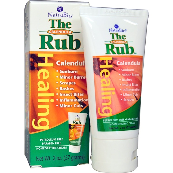NatraBio, The Calendula Rub, Healing Cream, 2 oz (57 g) (Discontinued Item)