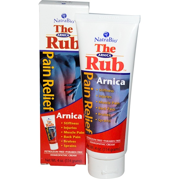 NatraBio, The Arnica Rub, 4 oz (114 g)