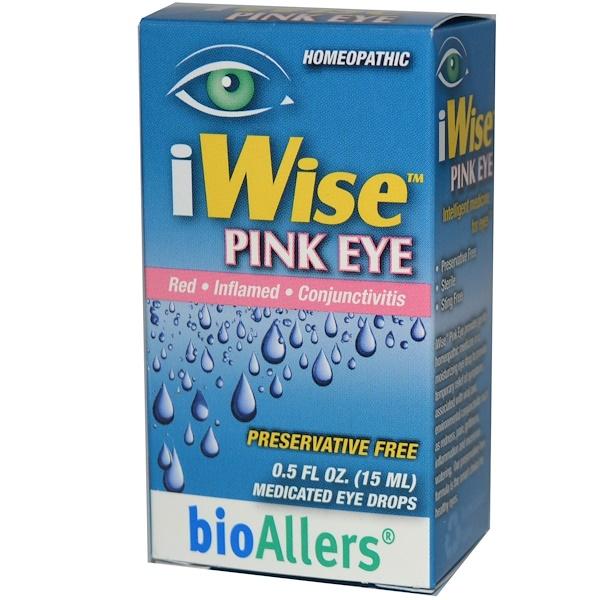 NatraBio, iWise Pink Eye, 0.5 fl oz (15 ml) (Discontinued Item)