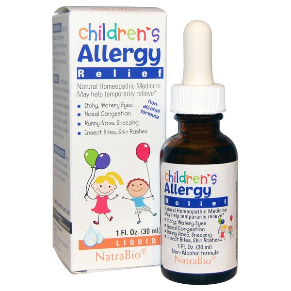 NatraBio, Children's Allergy Relief, Non-Alcohol Formula, Liquid, 1 fl oz (30 ml)