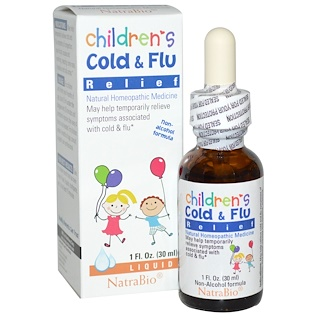 NatraBio, Children's Cold & Flu Relief, 1 fl oz (30 ml)