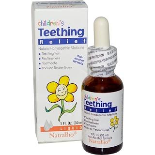 NatraBio, Alivio para la Dentición de los Niños, Fórmula sin Alcohol, Líquida, 1 fl oz (30 ml)