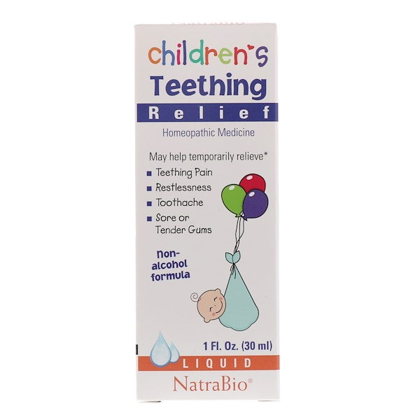 Children's Teething Relief, Non-Alcohol Formula, Liquid, 1 fl oz (30 ml)
