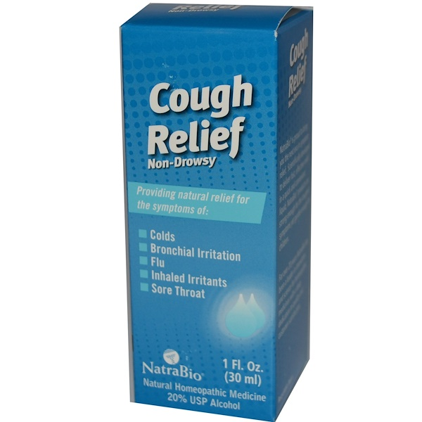 NatraBio, Cough Relief, Non-Drowsy, 1 fl oz (30 ml) (Discontinued Item)