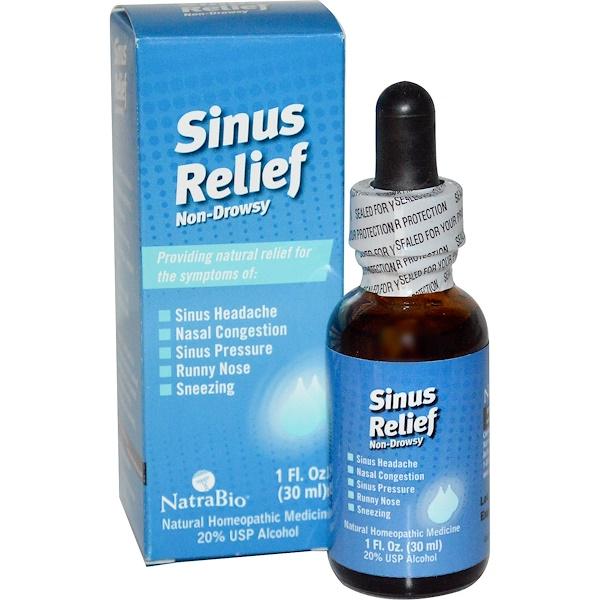 NatraBio, Sinus Relief, Non-Drowsy, 1 fl oz (30 ml) (Discontinued Item)
