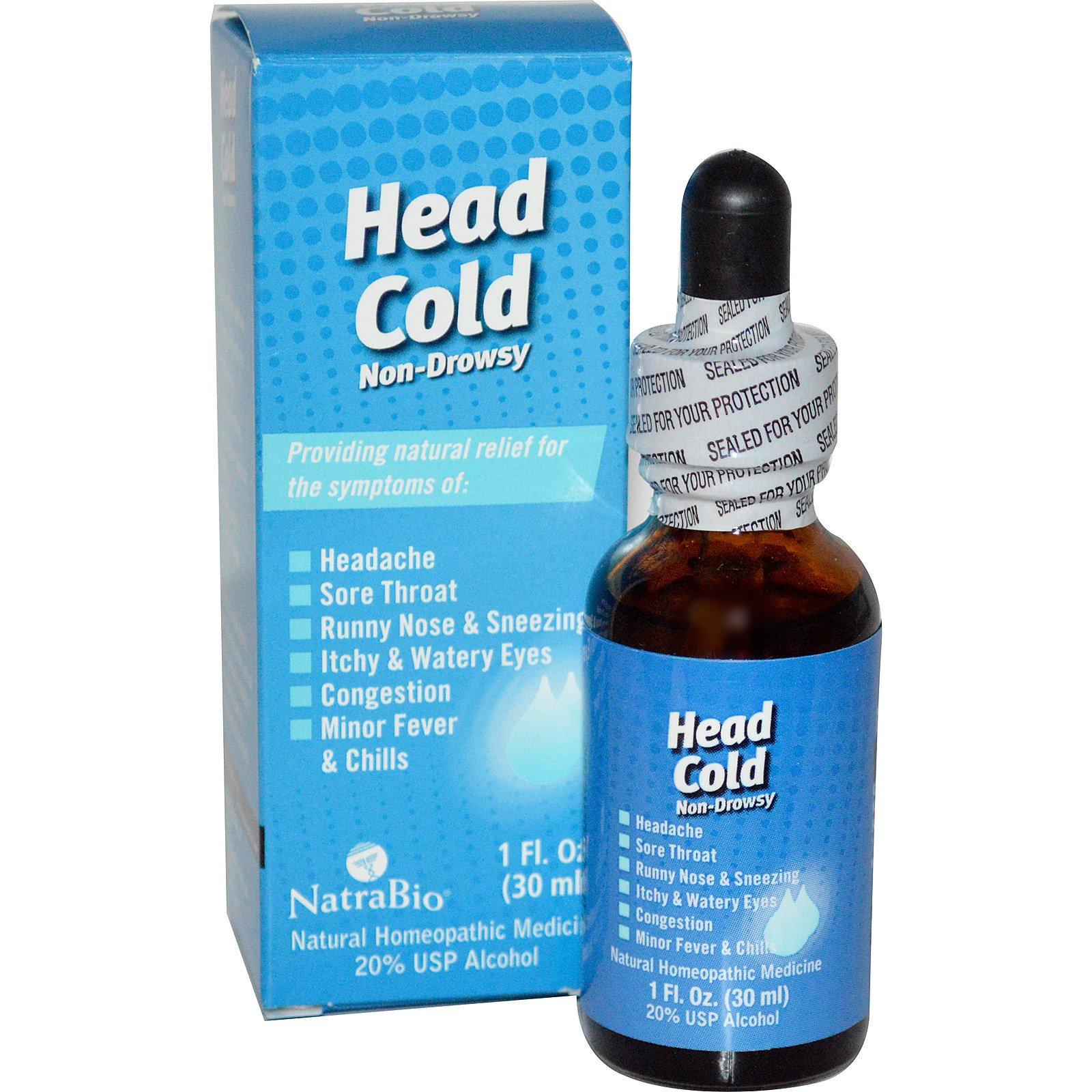 NatraBio Head Cold 1 fl oz 30 ml iHerb