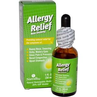 NatraBio, Allergy Relief, Non-Drowsy, 1 fl oz (30 ml)