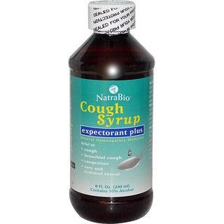 NatraBio, Cough Syrup, Expectorant Plus, 8 fl oz (240 ml)