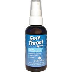 NatraBio, 咽痛噴霧劑,暫時緩解,4 fl oz (120 ml)