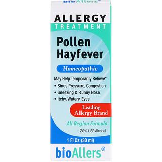 NatraBio, bioAllers, Allergy Treatment, Pollen Hayfever, 1 fl oz (30 ml)