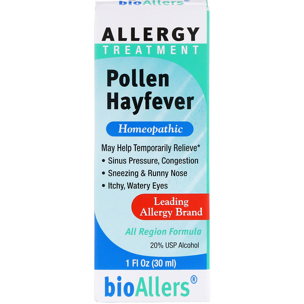 BioAllers, Allergy Treatment, Pollen Hayfever, 1 fl oz (30 ml)