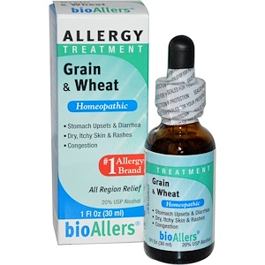 НатраБио, BioAllers, Grain & Wheat, Allergy Treatment, 1 fl oz (30 ml) отзывы