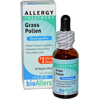 NatraBio, bioAllers, Allergy Treatment, Grass Pollen, 1 fl oz (30 ml)
