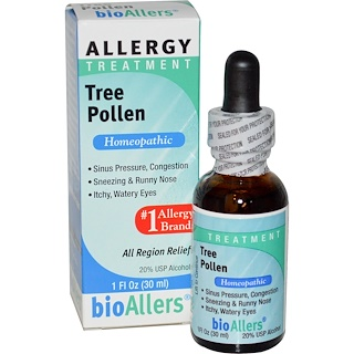 NatraBio, BioAllers, Tree Pollen, Allergy Treatment, 1 fl oz (30 ml)