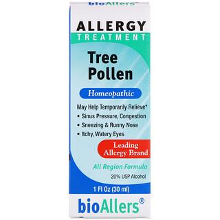 NatraBio, BioAllers, Tree Pollen, Allergy Treatment, 1 fl oz (30 ml)