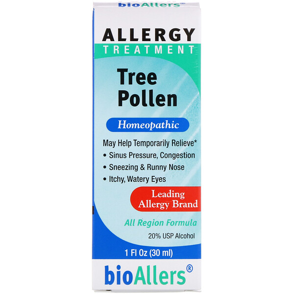 NatraBio, BioAllers, Allergy Treatment , Tree Pollen, 1 fl oz (30 ml)