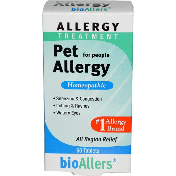 BioAllers, Allergy Treatment, Pet Allergy for People, 60 Tablets