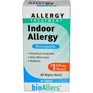 NatraBio, BioAllers, Allergy Treatment, Indoor Allergy, 60 Tablets