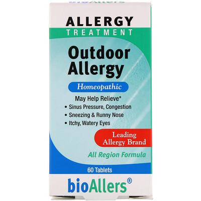 bioAllers, лечение аллергии, аллергия на открытом воздухе, 60 таблеток