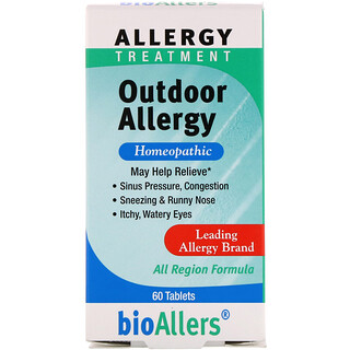 NatraBio, BioAllers, Allergy Treatment, Outdoor Allergy, 60 Tablets