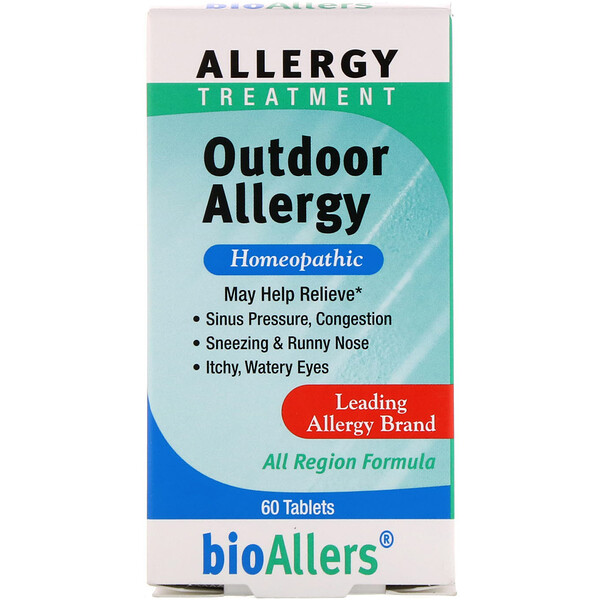 BioAllers, Allergiebehandlung, Outdoor Allergy, 60 Tabletten