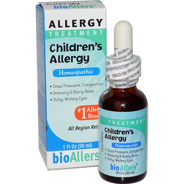 NatraBio, BioAllers, Children's Allergy, Allergy Treatment, 1 fl oz (30 ml)