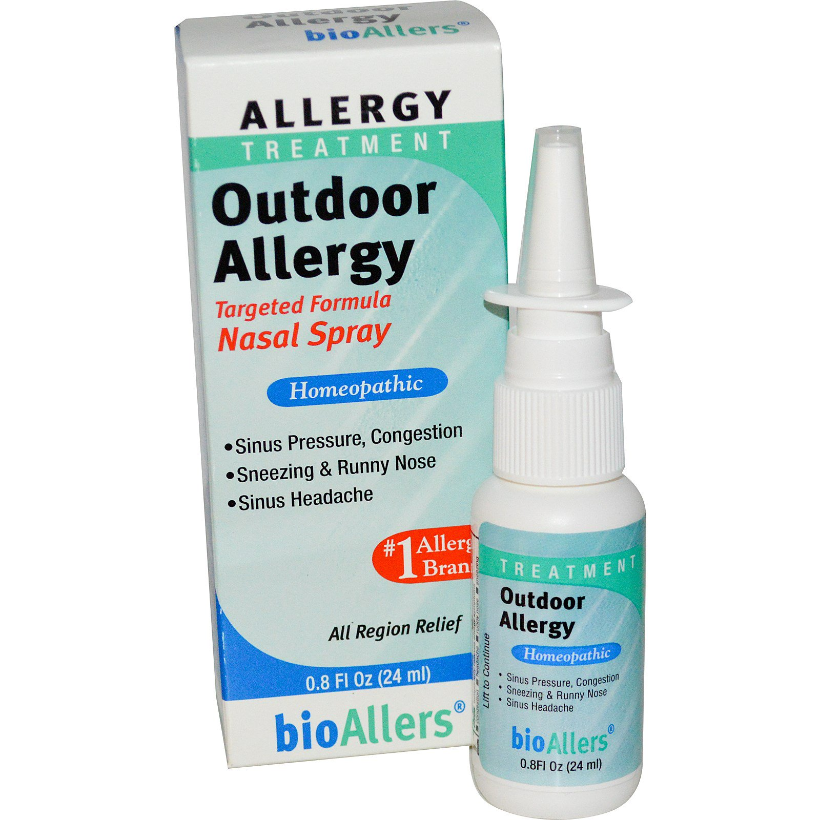 NatraBio bioAllers Allergy Treatment Outdoor Allergy Nasal