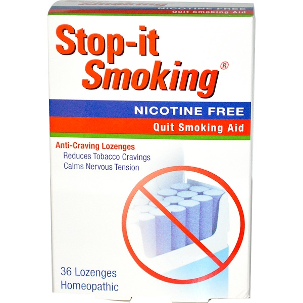 NatraBio, Stop-It Smoking, Anti-Craving Lozenges, 36 Lozenges (Discontinued Item)