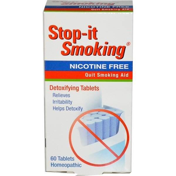 Stop-it Smoking, Detoxifying Tablets, Nicotine Free, 60 Tablets
