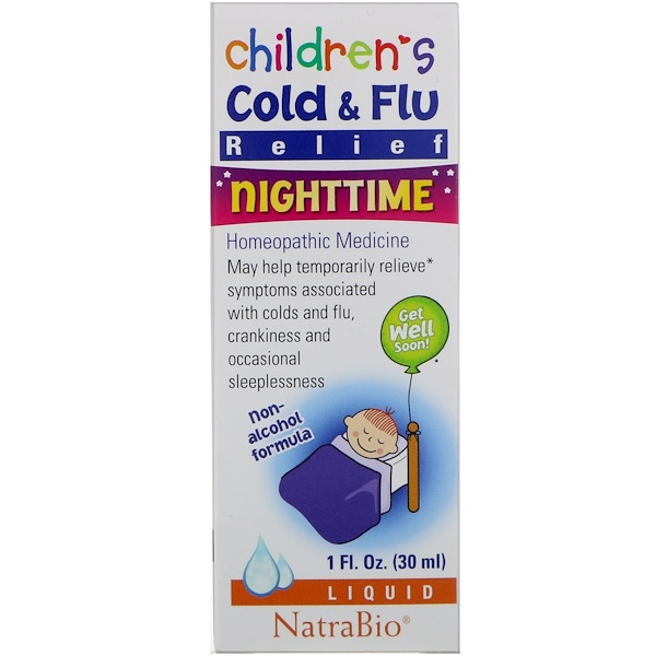 Children's Cold & Flu, Nighttime, 1 fl oz (30 ml)