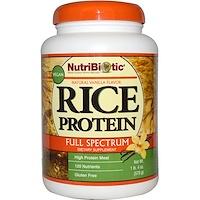 Веганский рисовый белок, полный спектр, со вкусом натуральной ванили, 1 фунт и 4 унции (570 г) - фото