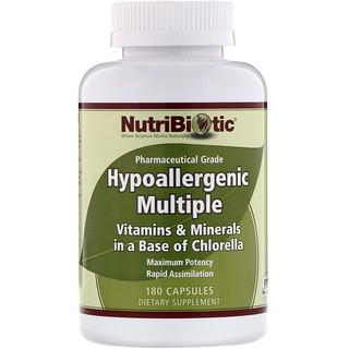 NutriBiotic, 低アレルギー性マルチブル、カプセル180錠