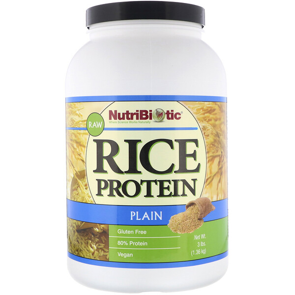 Raw, Rice Protein, Plain, 3 lbs (1.36 kg)