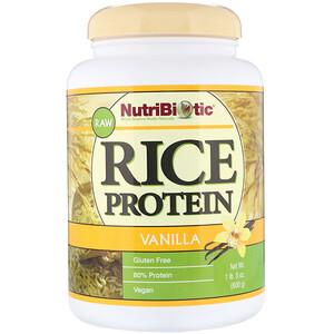 Нутрибиотик, Raw Rice Protein, Vanilla, 1 lb 5 oz (600 g) отзывы покупателей