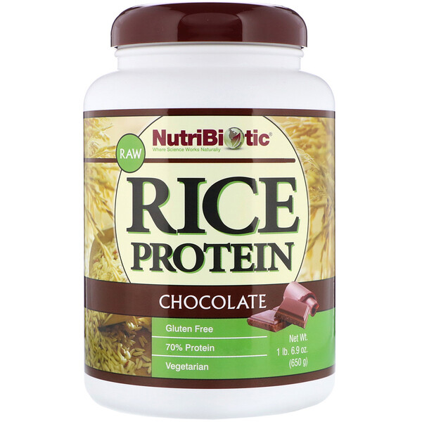 Raw Rice Protein, Chocolate, 1.43 lbs (650 g)