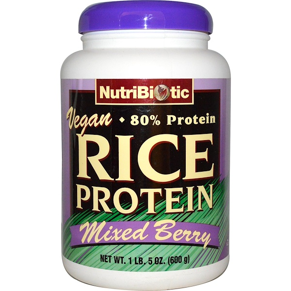 NutriBiotic, Vegan Rice Protein, Mixed Berry, 1 lb. 5 oz (600 g) (Discontinued Item)