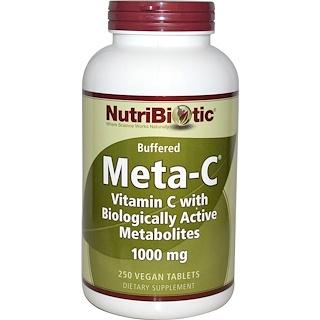 NutriBiotic, メタC、 1000 mg、 250 植物性タブレット