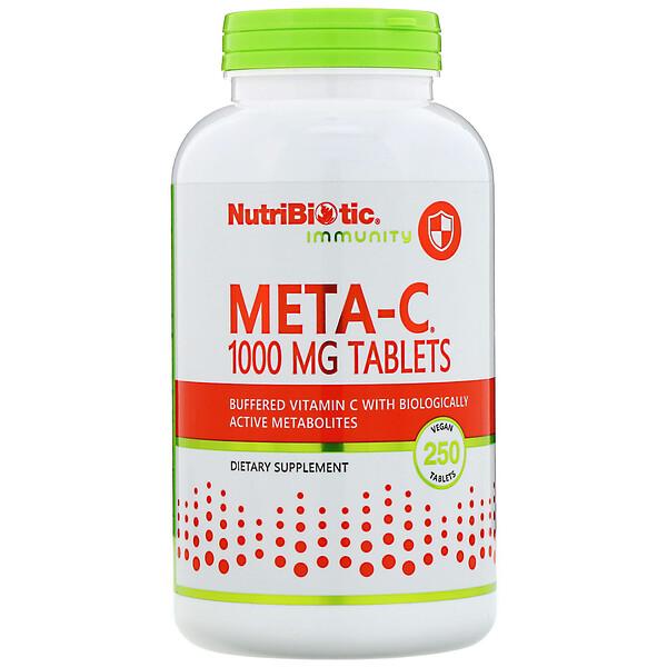 NutriBiotic, Immunity,  Meta-C, 1,000 mg, 250 Vegan Tablets